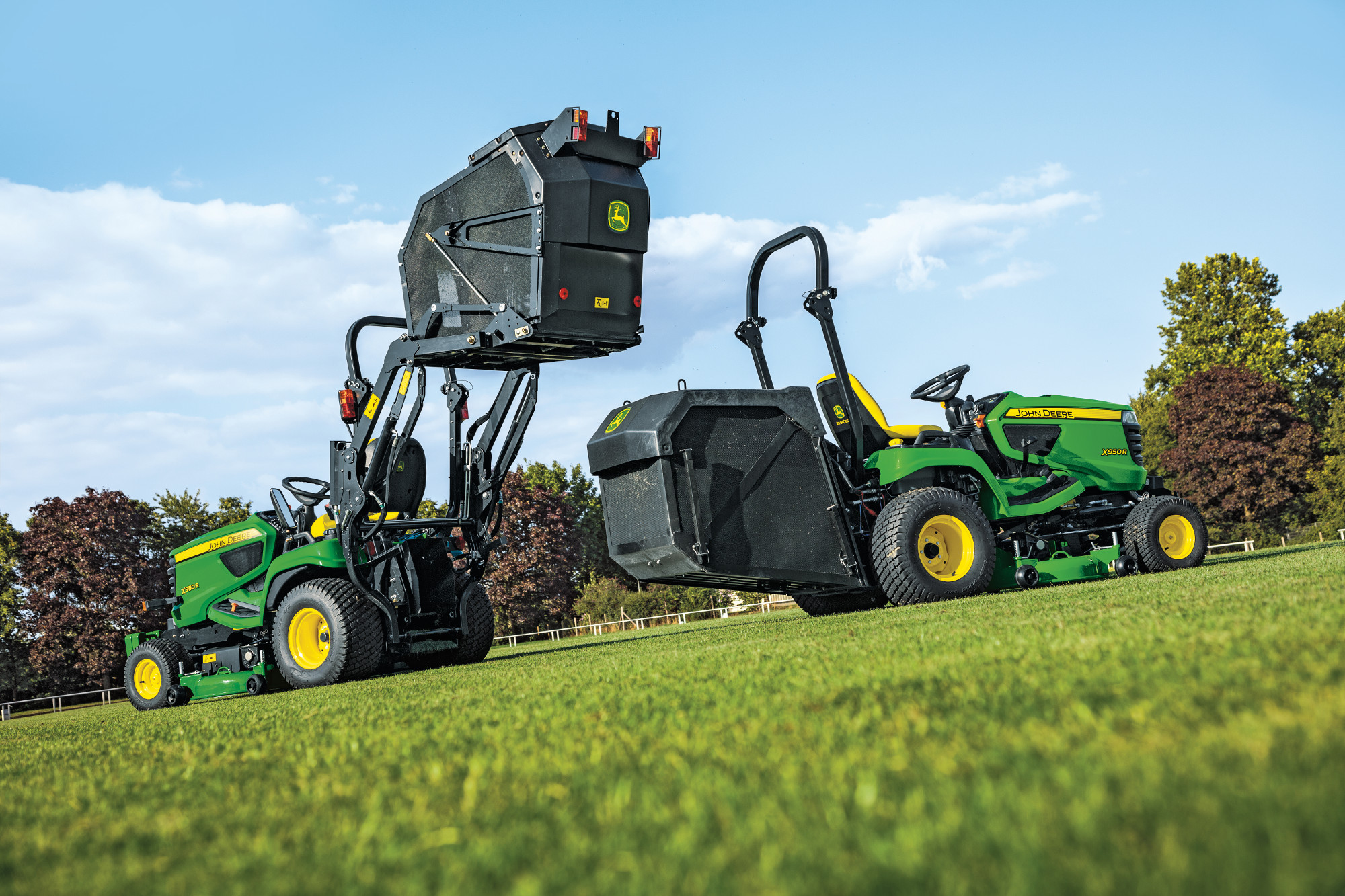 John Deere X950R Hi and Low Tip Collectors