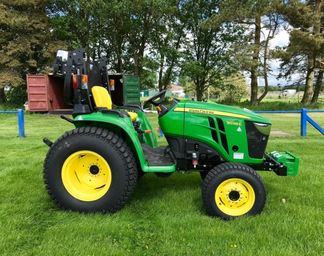 A new John Deere 3038E for a local junior football club