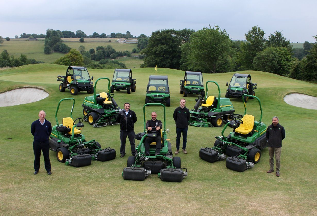 John Deere golf and turf machinery