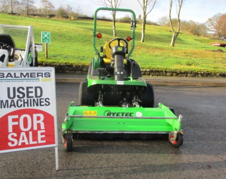 John Deere 1565 out front mower c/w Ryetec flail deck
